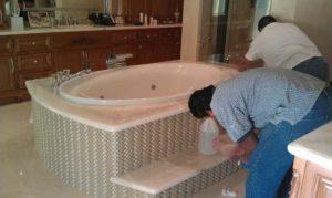 Tile and Marple Design bathroom
